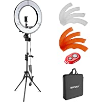 Neewer Camera Photo Video Lighting Kit: 48 centimeters Outer 55W 5500K Dimmable LED Ring Light Light Stand Bluetooth Receiver for Smartphone Youtube Self-Portrait Video Shooting