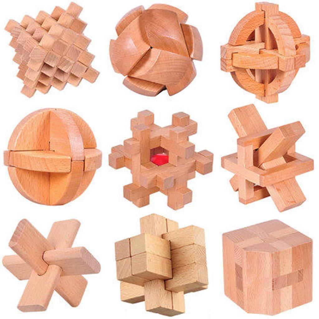BJLWTQ Kong Ming Lock Lu Ban Lock Set Primary School Building Blocks Nine Chain Intellectual Early Education Toys Adult Intelligence Unlock (Style : C)