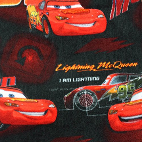 "Disney I Am Lightning McQueen Anti Pill Premium Fleece Fabric, 60"" Inches Wide – Sold By The Yard (Lightning Mcqueen Fabric)"