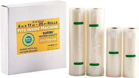 Amazon.com: Rollos de sellador al vacío de 8 y 11 pulgadas ...