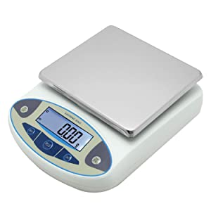 CGOLDENWALL High Precision Lab Analytical Electronic Balance Digital Precision Scale Laboratory Precision Weighing Electronic Scales Balance Jewelry Scales Gold Balance Kitchen Scales (5000g, 0.01g)