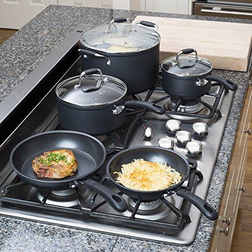 Ecolution Symphony Non-Stick 8 Piece Heavy Forged Aluminum PFOA Free Cookware Set, Slate by Ecolution (Image #1)