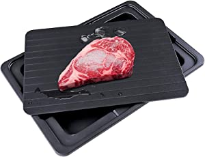 CIPAZEE Fast Defrosting Tray - Natural Thawing Tray for Frozen Meat Defrost Tray Thaw Frozen Food Meat Defroster Tray Plate Rapid Thaw Master Tray Mat