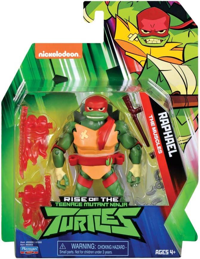 TUAB01 Multicolore ROTMNT-Figurine articul/ée avec Accessoires-Raph TMNT