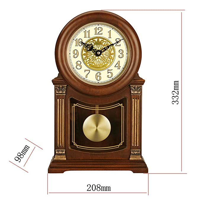 Amazon.com : LQUIDE Family Fireplace Clocks Desk Clock, Wooden Fireplace Silent Fireplace Clock Making Game Decorative Table Watch for Living Room Suitable ...