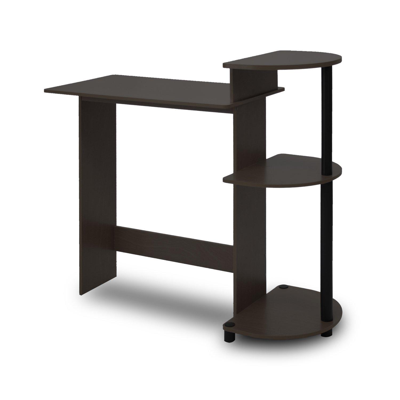 Furinno 11181EX/BK Compact Computer Desk, Espresso/Black by Furinno