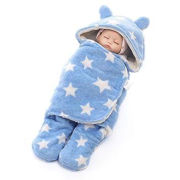 WDXIN Saco De Dormir Bebe Otoño E Invierno Dibujos Animados Swaddle Saco De Dormir Bebe Espesar