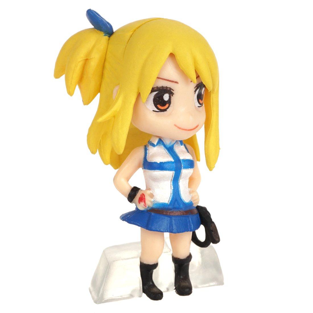 CoolChange Set de 6 Mini Figuras Chibi de Fairy Tail