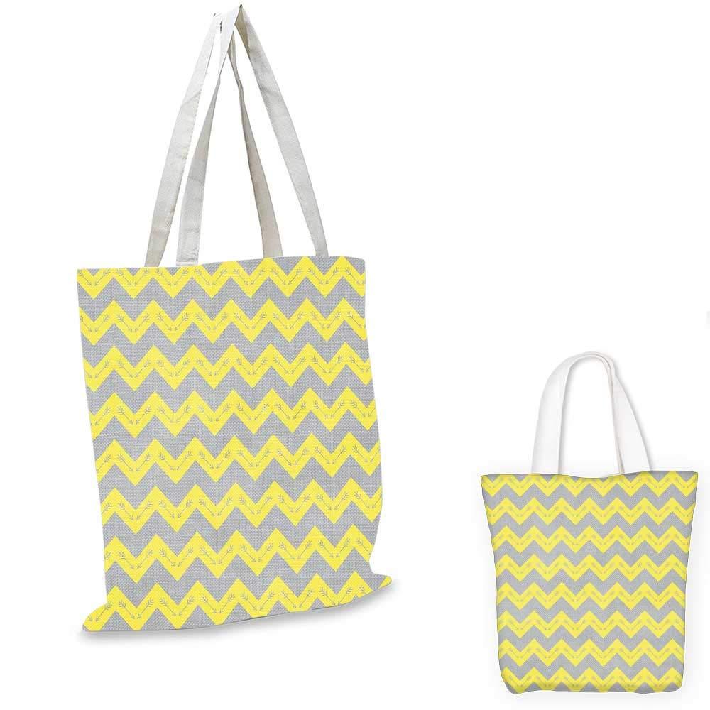 Chevron canvas messenger bag Zigzag Geometric Patten in Blue Shades Abstract Symmetric Arrows Motif foldable shopping bag Grey White Petrol Blue 14x16-11