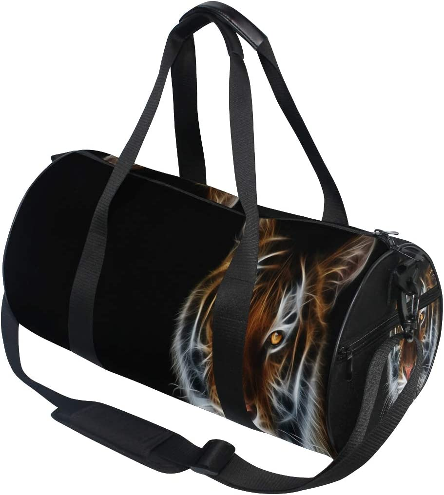 JTRVW Luggage Bags for Travel Portable Luggage Duffel Bag Snow Tiger Travel Bags Carry-on in Trolley Handle