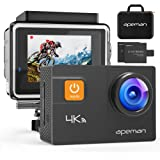 APEMAN A80 Action Camera 4K 20MP Wi-Fi Sports Cam 4X Zoom EIS 40M Waterproof Underwater Camcoder with 19 Accessories and…