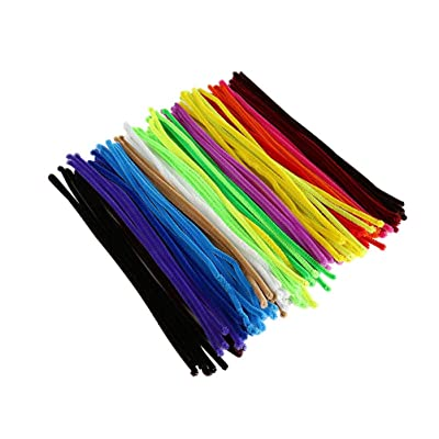 Vosarea 200pcs Colored Pipe Cleaners Chenille Stems Crafts Chenille Sticks Mixed Color 6mmx300mm: Arts, Crafts & Sewing