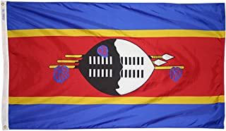 product image for Annin Flagmakers Model 197914 Swaziland Flag 3x5 ft. Nylon SolarGuard Nyl-Glo 100% Made in USA to Official United Nations Design Specifications.