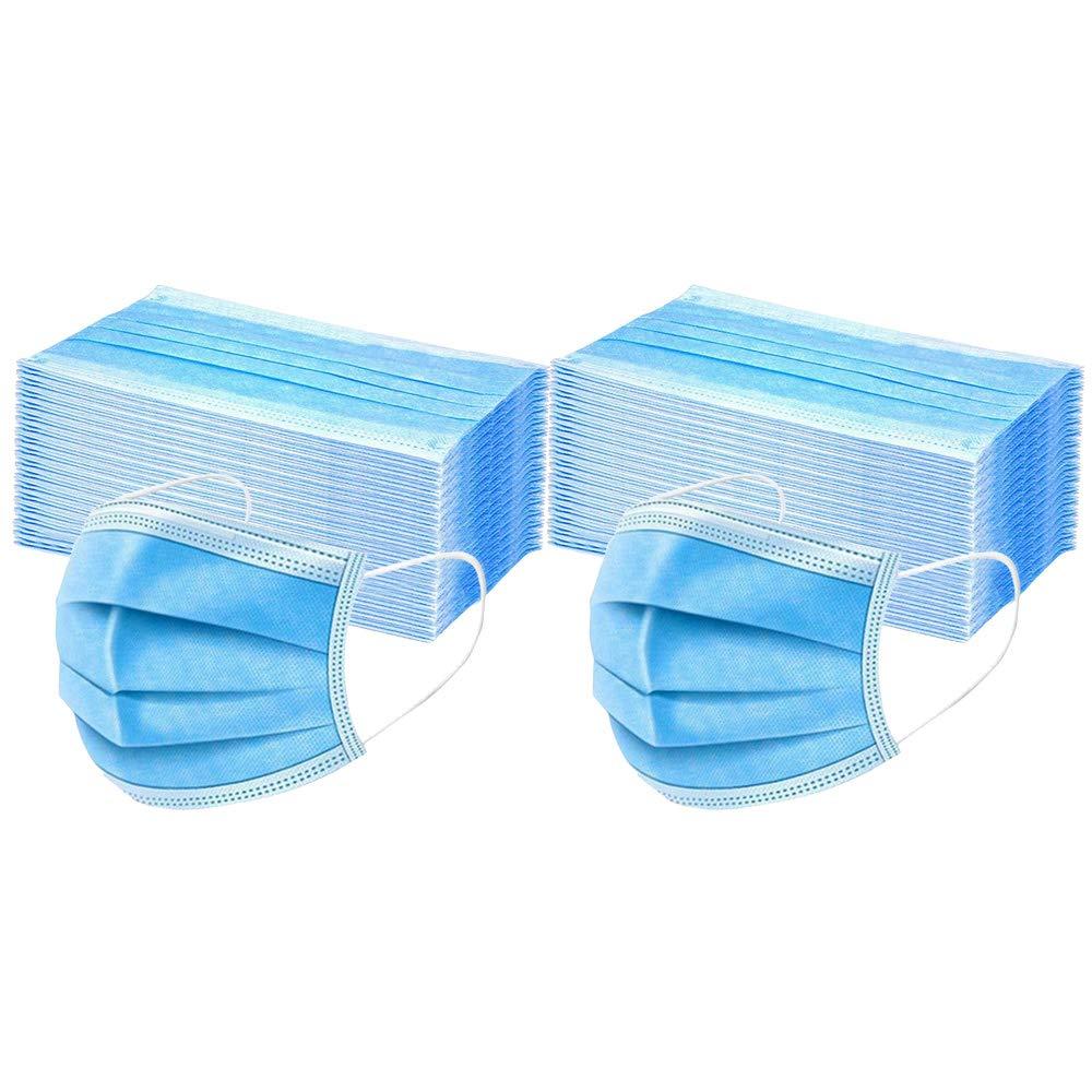 Danmeifu 50 Piezas Adulto Protección, 𝐌𝐚𝐬𝐜𝐚𝐫𝐢𝐥𝐥𝐚𝐬, 3 Capas Transpirables con Elástico para Los Oídos Seguro Suave Transpirable Protección personal diaria (Adulto_100pc)