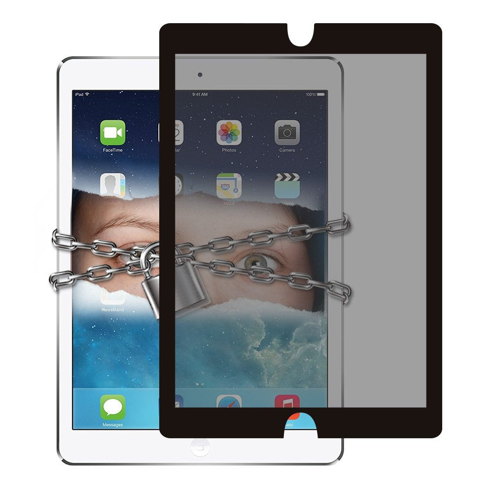 """Privacy Screen Protector for iPad Pro 12.9"""", 2 Way Antiglare Privacy Screen Protector, Reusable & Washable Adhesive up to 500 Times, Easy Installation & Removal, with Carrying Pouch & Storage Board"""