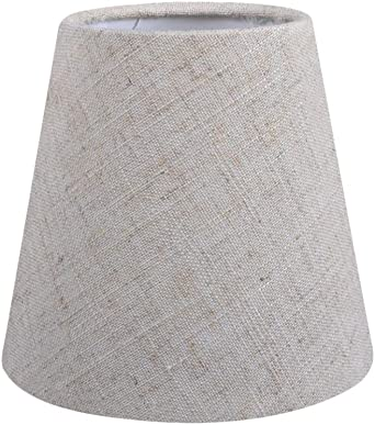 Pantalla de lámpara vintage de lino para lámpara de techo de ...