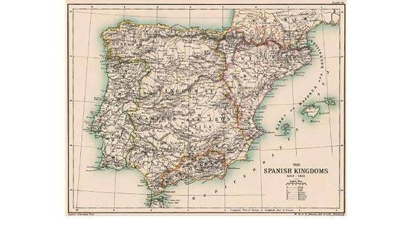 Map Of Spain 1492.Amazon Com Iberia Spain The Spanish Kingdoms 1263 1492 Portugal