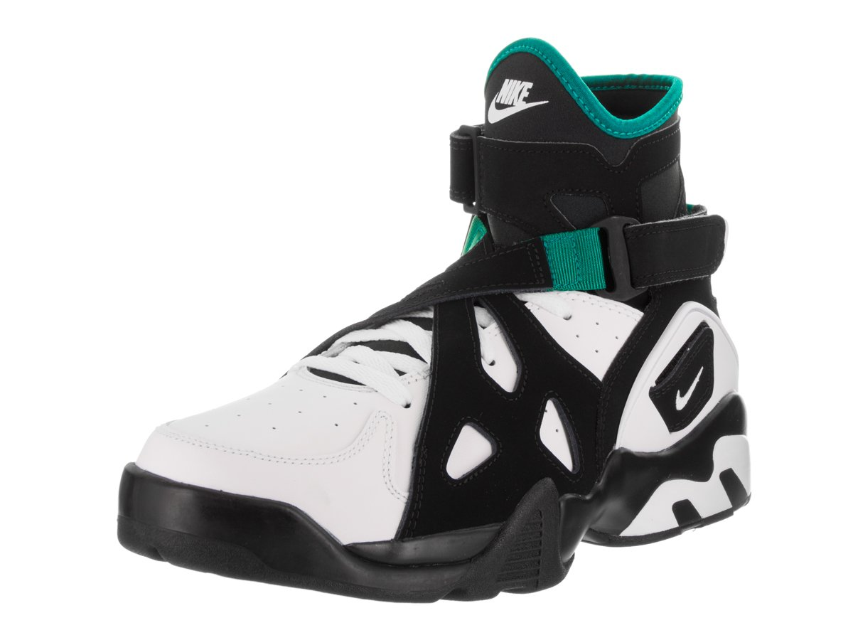 NIKE Men's Air Unlimited Black and White Leather Basketball Shoes 9