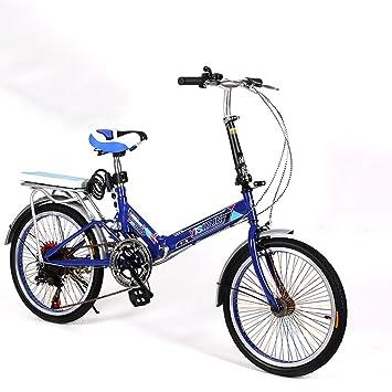 XQ XQ165URE 20 Pulgadas Bicicleta Plegable 6 Velocidad Bicicleta Hombres y Mujeres Bicicleta Bicicleta de los