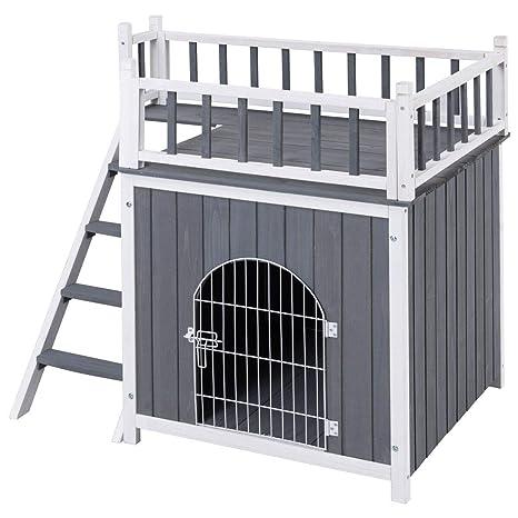 Amazon.com: HTH ONLINE STORE Casa de madera para mascotas ...