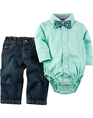 Carter's 2 Piece Bodysuit Jeans Set