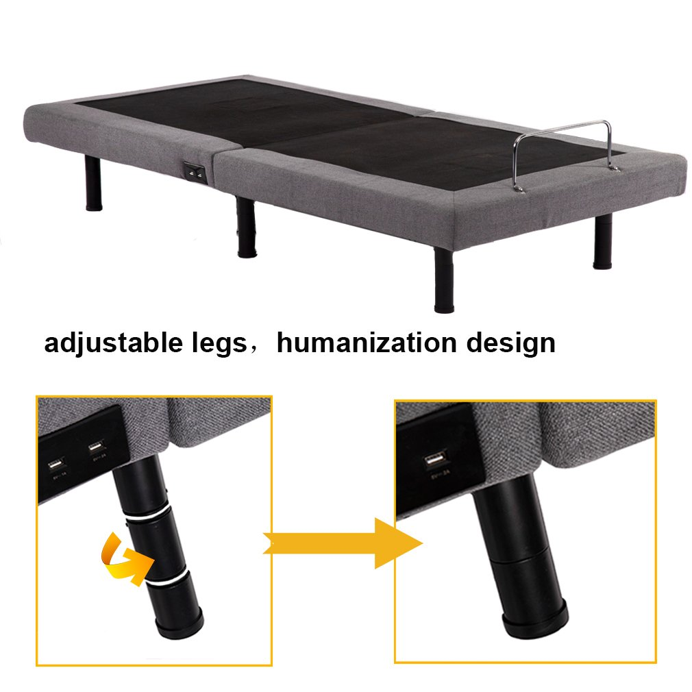 Adjustable Bed Base Adjustable bed Mattress Foundation frame Posture with Massage,Wireless Remote,Zero Gravity Remote USB,Twin XL