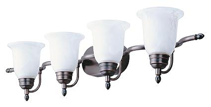 Lithonia Lighting 11794 BZ M2 Light Concepts 4 Light Sheffield Bathroom Bar  Light, Black