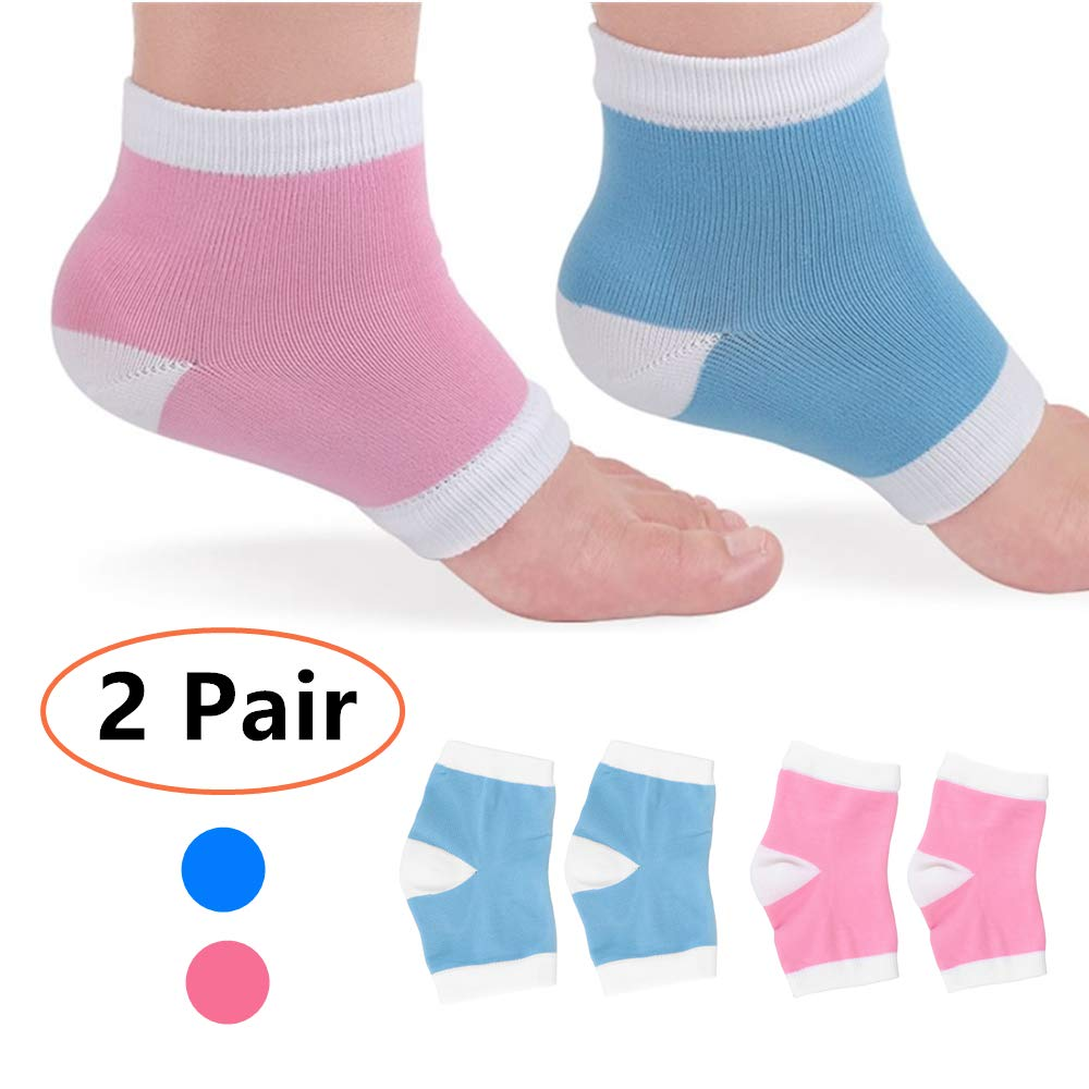 Moisturizing Socks 2 Pairs, HAITAO Cotton Gel Spa Socks, Gel Heel Socks For Repairing and Softening Dry Cracked Feet, Foot Treatment Care Gel Lining Infused with Essential Oils and Vitamin E