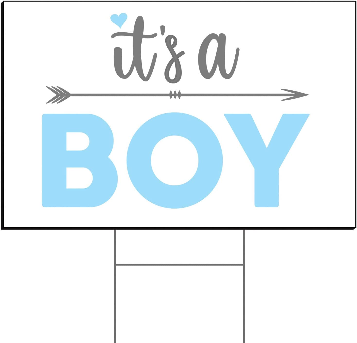 Tees & Tails Welcome Home Baby Lawn Sign (It's A Boy 12