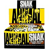 Universal Nutrition Animal Snak High Protein Food, Peanut Butter Honey & Oats, 12 Count
