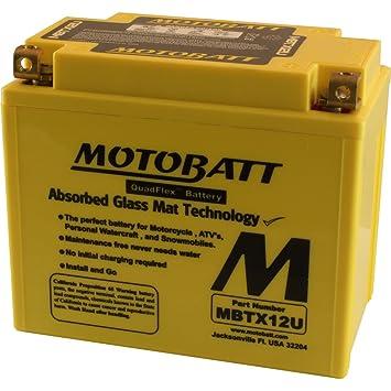 Amazon.com: MotoBatt MBTX12U (12V 14 Amp) 200CCA ...