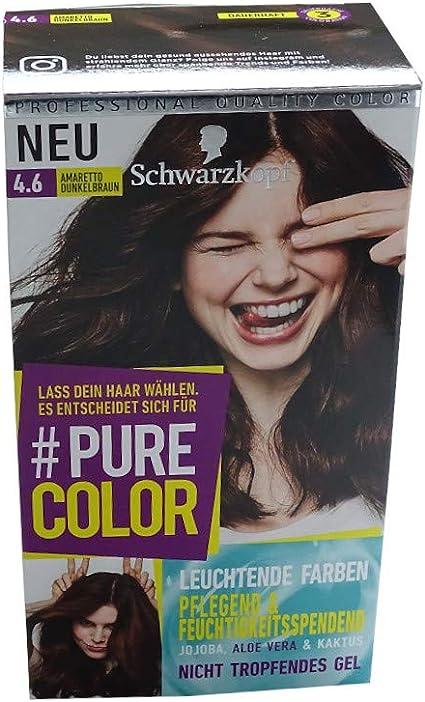 Schwarzkopf Pure Color 4.6 Amaretto Marrón Oscuro: Amazon.es ...