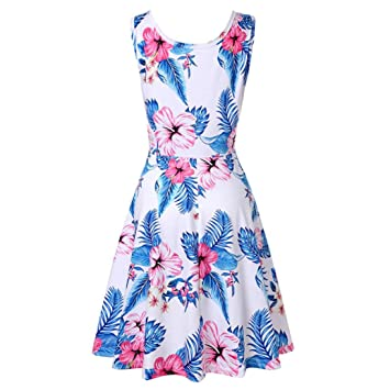 e71f4a9c6 BANGGG Women's Dresses,Women Ladies Sexy Floral Printing Ethnic Style Short  Sleeve Fit and Flare Bohemian Dress Sundress Beach Holiday Evening Party  Prom ...