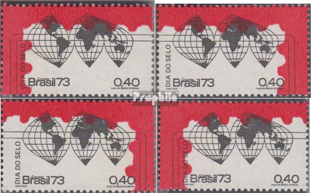 Prophila Collection Brasilien 1382-1385 1382-1385 Brasilien (kompl.Ausg.) 1973 Tag der Briefmarke (Briefmarken für Sammler) 102fcd