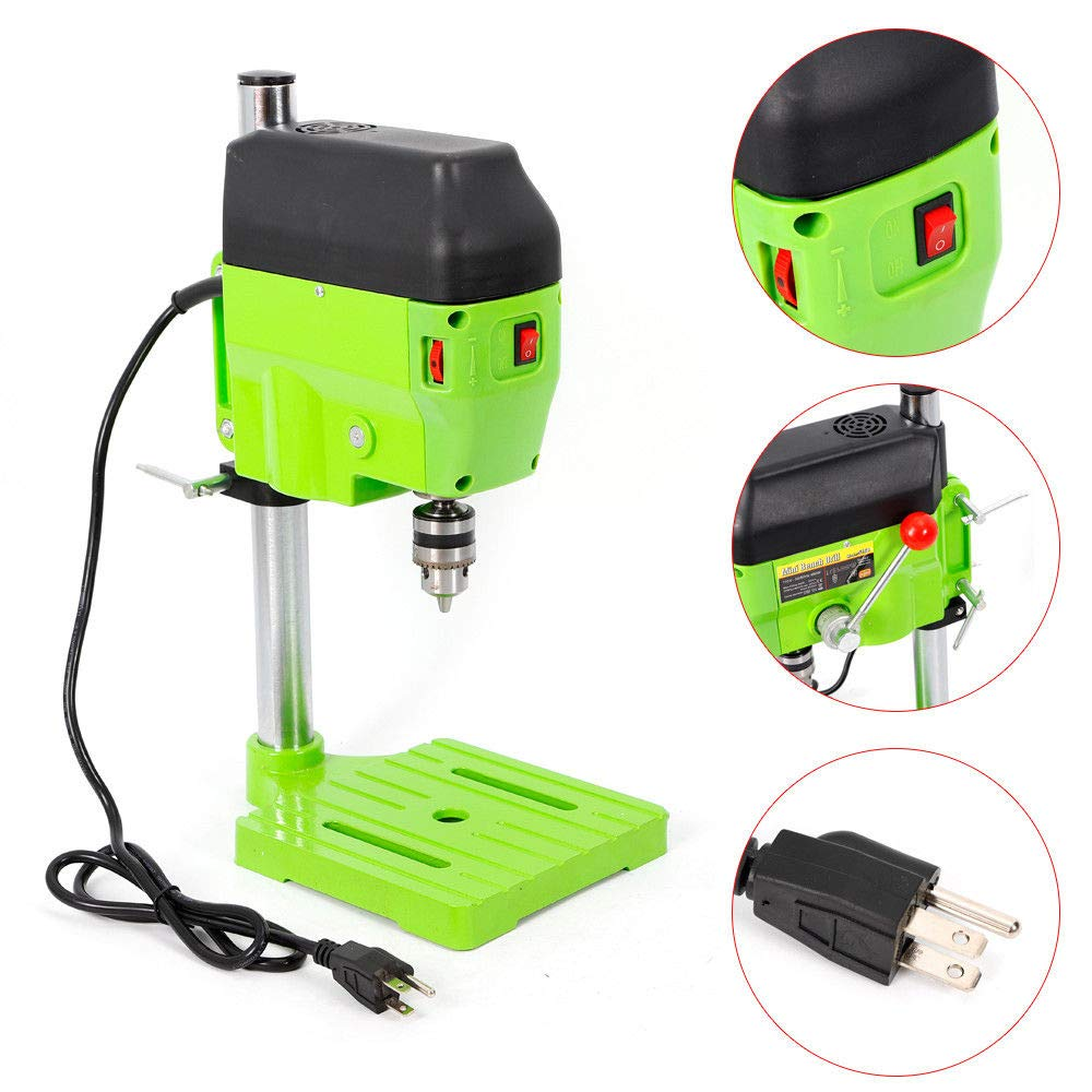 Mini Electric Bench Drill Press Stand Compact Portable Workbench Metal Drilling Repair Tool Expanding Drilling Machine 480W DIY Tool (USA Stock) by SHZICMY (Image #3)