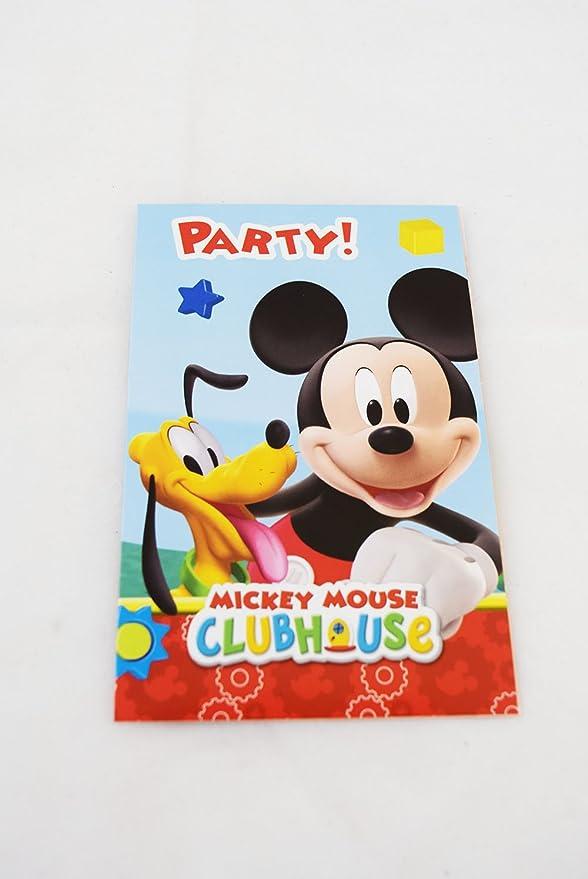 Mickey Mouse tarjetas de invitaciones de fiesta disfraz infantil ...