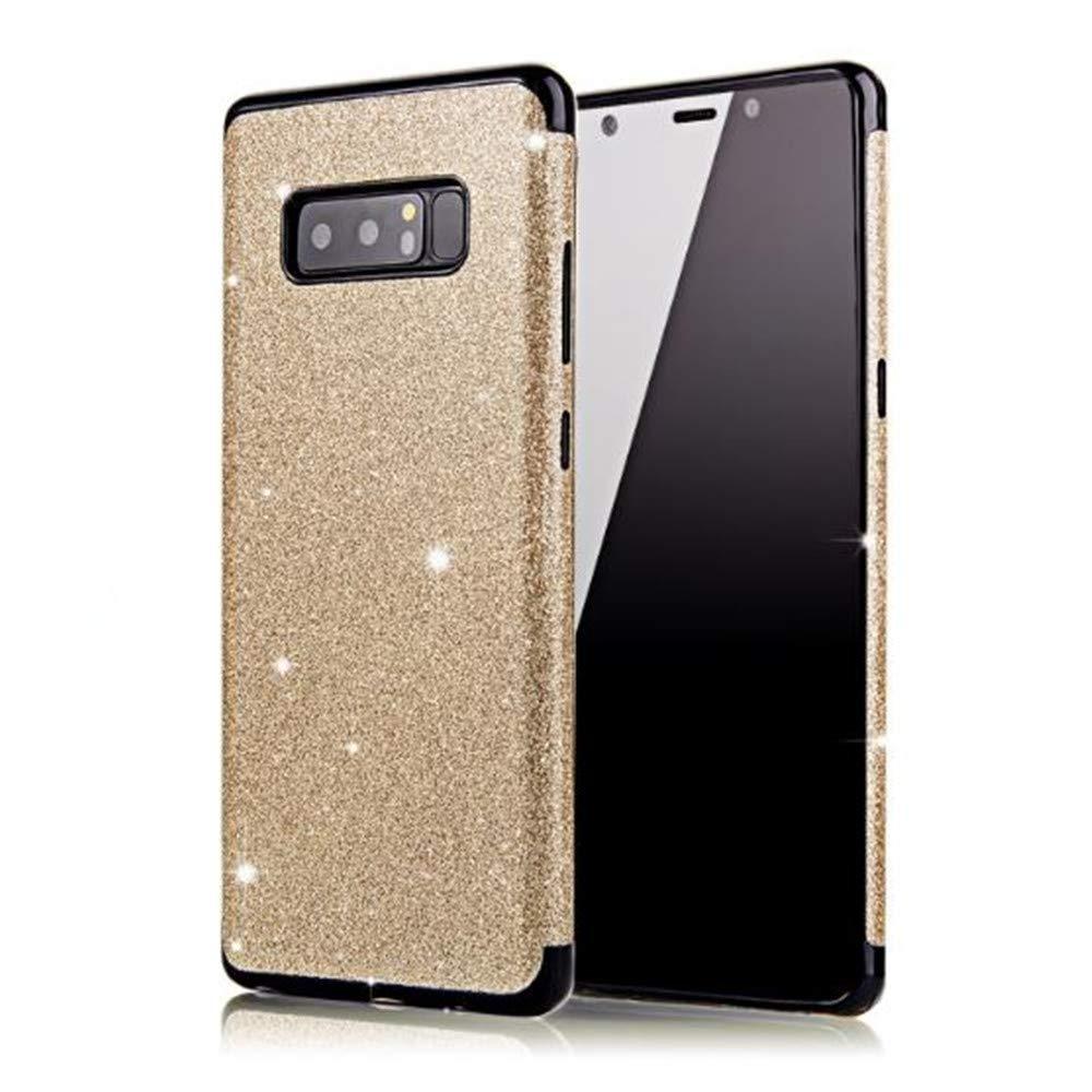 Samsung Galaxy Note 9 Bling TPU Case, Aulzaju Galaxy Note 9 Beauty Fashion Shiny Soft Slim Shockproof Full Body Case Cover for Samsung Galaxy Note 9-Red