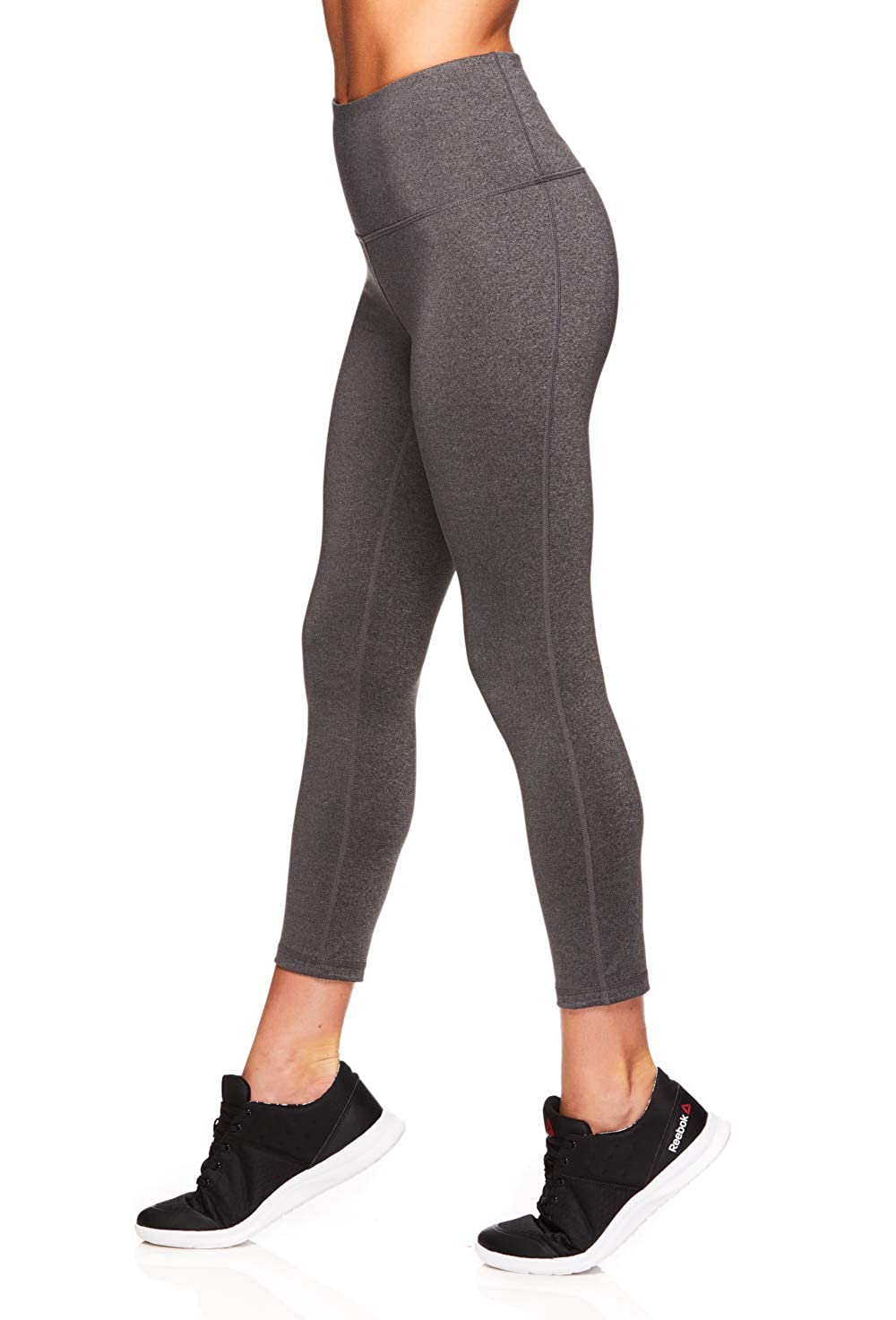 0c5716522ea07 Reebok Women's Capri Workout Leggings w/High-Rise Waist - Cropped  Performance Compression Tights at Amazon Women's Clothing store: