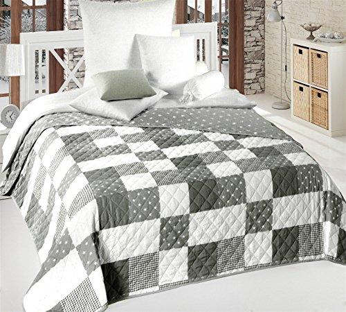 Bett Sofaüberwurf gesteppt 220x240 Überwurf Tagesdecke Decke Plaid Bettüberwurf Spieldecke patchworkdecke, Design - Motiv:Design 1
