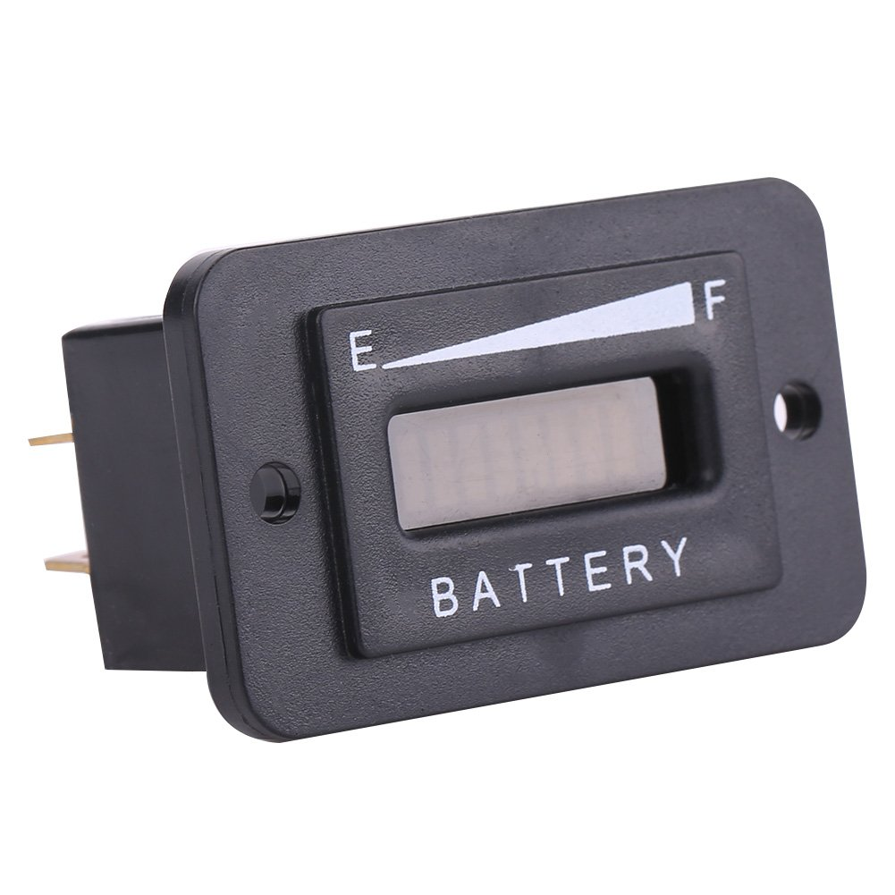 Qiilu 12V/24V/36V/48V LED Digital Battery Indicator Meter Gauge for Golf Cart(BI003-36V)