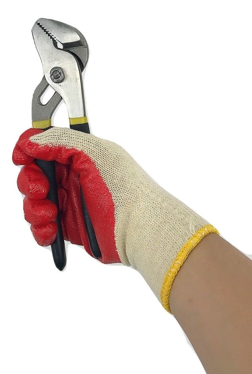 240 pairs Wholesale Heng Rui Premium Red latex Palm coated cotton Grip glove by Heng Rui (Image #4)