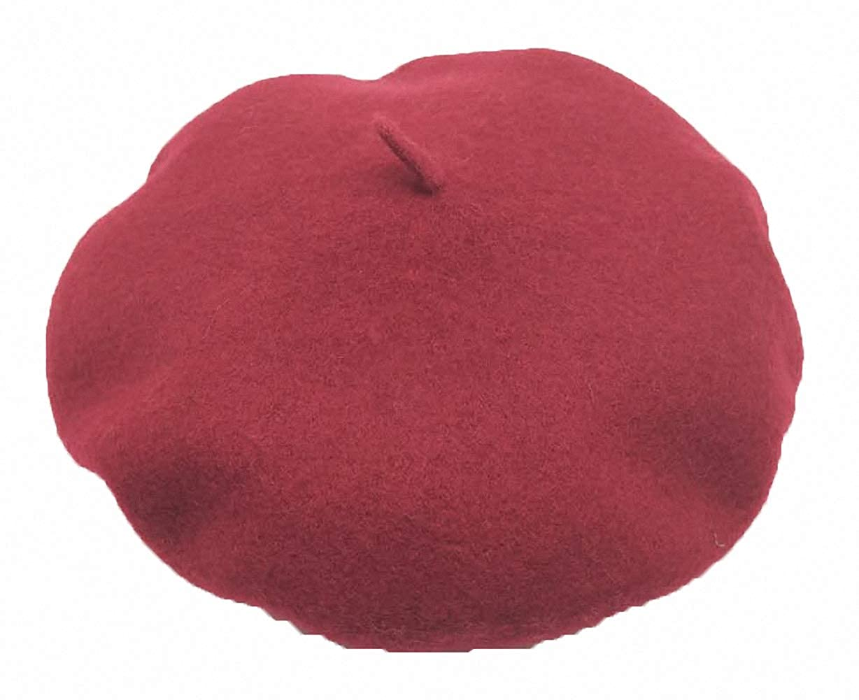 Ulalaza Wool Berets Hat for Women Casual Solid Color Spring Winter French Style