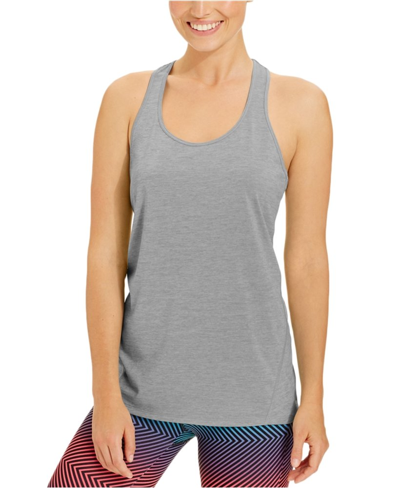 Ideology Womens Yoga Fitnesss Tank Top Silver M