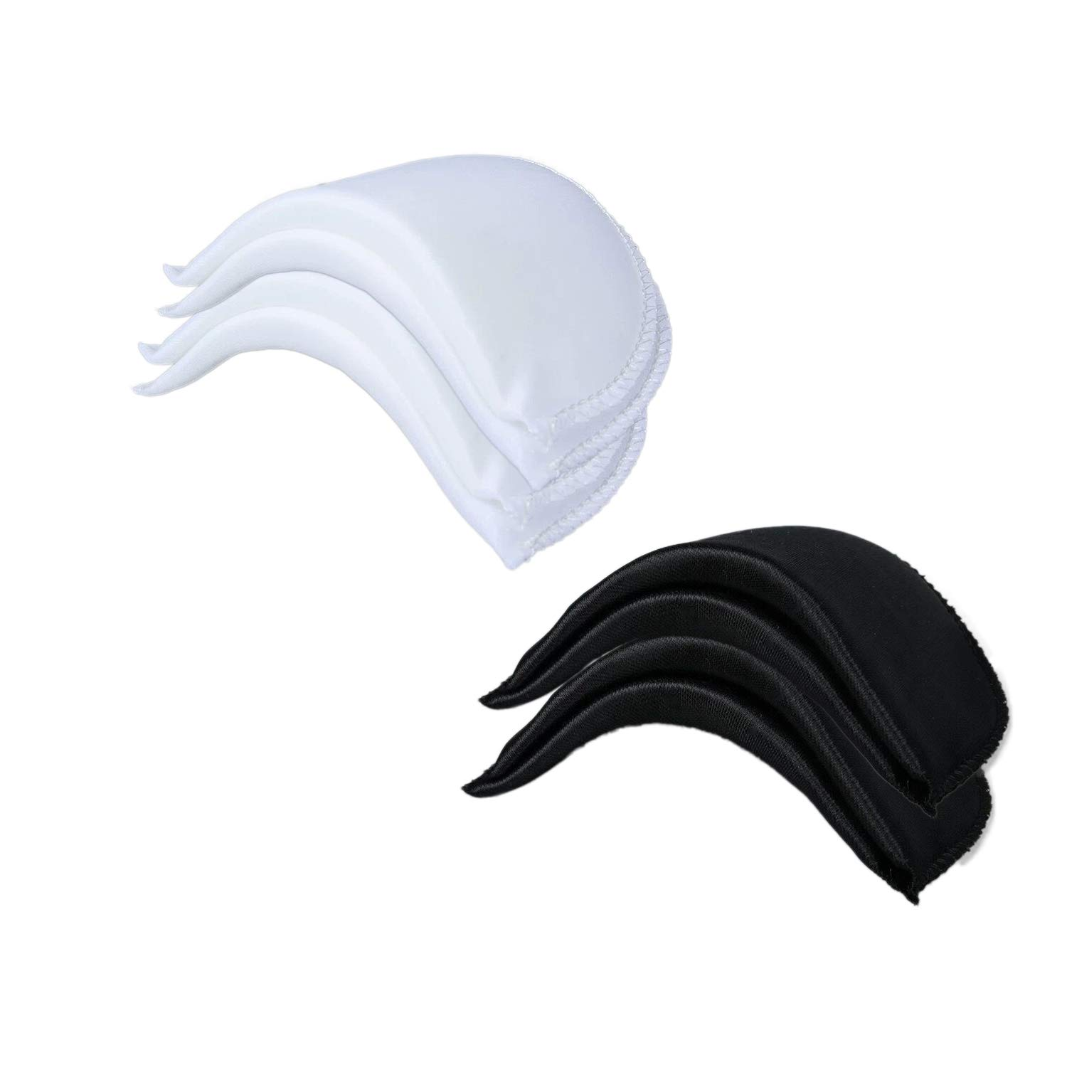 "B07L2MCMDF Chris.W 4 Pairs 1/2"" Covered Set-in Shoulder Pads Sewing Foam Pads for Blazer T-Shirt Clothes, Medium(2 Pairs White and 2 Pairs Black) 616U2BpjoIEL"
