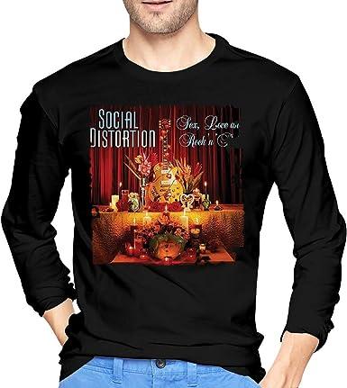 Camisetas de Manga Larga, Hombre, Camisas Casual, Ropa Deportiva, Mens Social Distortion Sex Love and Rock N Roll Long Sleeve T-Shirts Black: Amazon.es: Ropa y accesorios