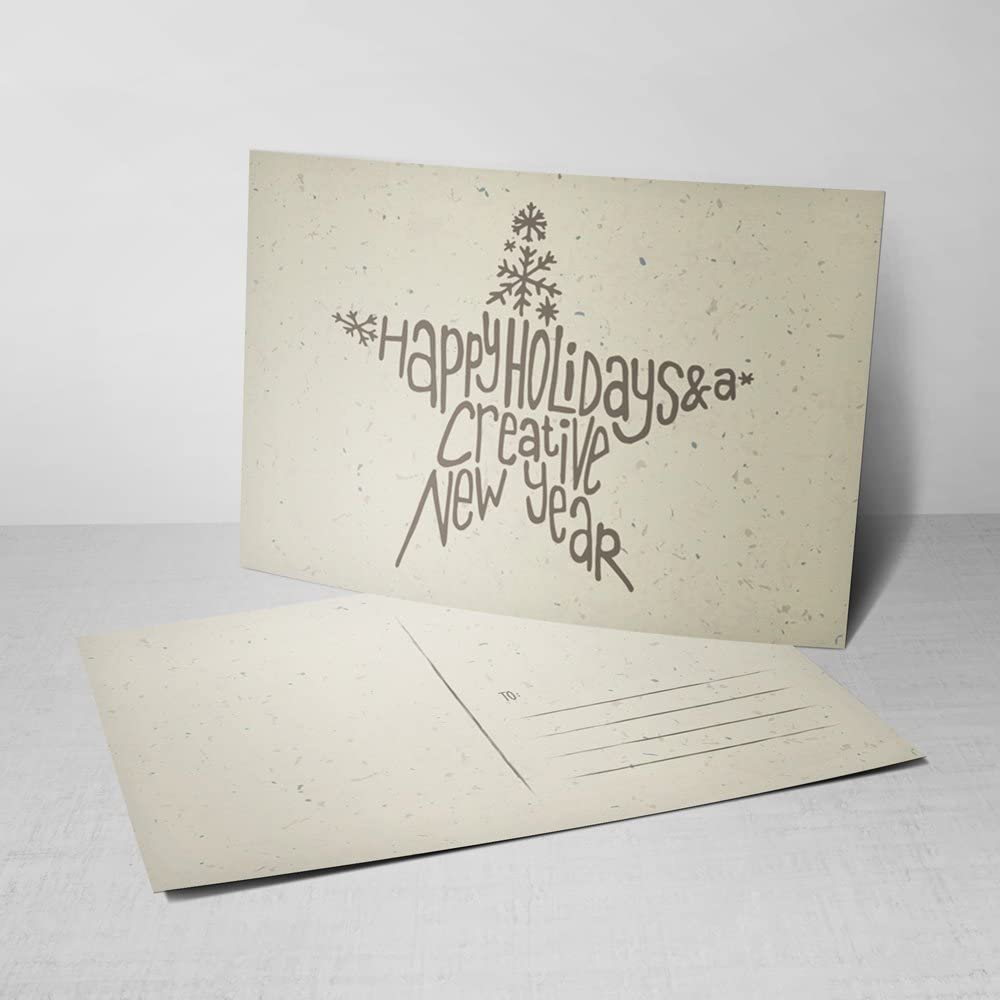 Amazon Com 5 Happy Holidays A Creative New Year Postcards Holiday Greeting Cards With Hand Lettered Design Office Products