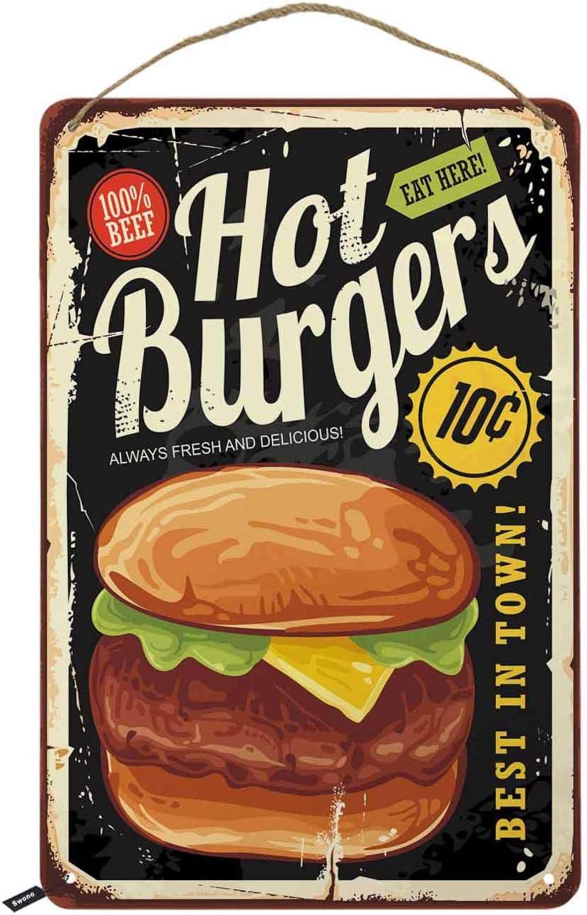 Cheese Burger Resturant Cafe Sign Kitchen Sign Pub Sign Bar Sign