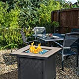 BALI OUTDOORS Propane Fire Pit Table, 30 Inch Gas
