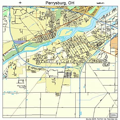 Perrysburg Ohio Map Amazon.com: Large Street & Road Map of Perrysburg, Ohio OH