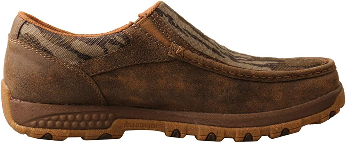 Twisted X Mens Slip On-Driving Moc with Cellstretch